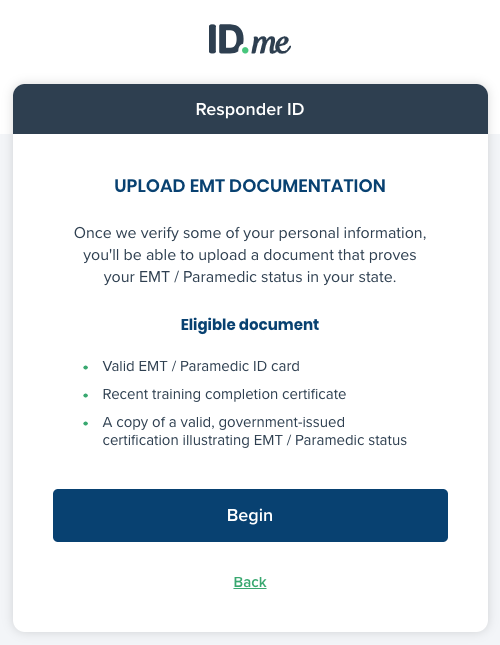Responder emt doc upload